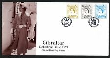Gibraltar 1999 2 FDCs Wilding Style Definitives - Full Set of 15 - Royalty Theme
