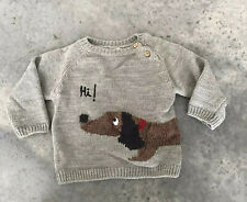 Zara Baby Knitwear Hi! Bye! Dog Hi Bye Boys Girls Sweater 9-12 Months 9 10 11 12