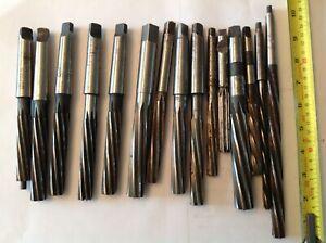Metric & Imperial HSS Reamers 15 incl Qualcut Dormer Milner ex Engineers Tools