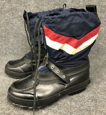 Vintage Trax Red White & Blue Steel Shanked Winter Snow Boots Black Size 8