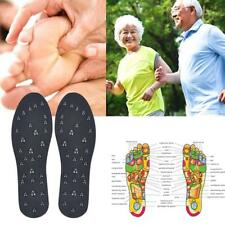 Magnetic Therapy Leather PU Shoe Insoles Bio Inserts Neuropathy Foot Pain Care