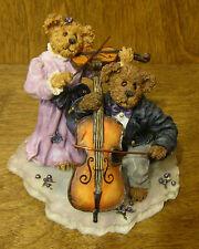 Boyds Bearstones #228366 Amanda and Michael...String Section, NIB Chamber  Music