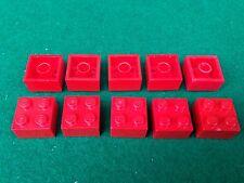 LEGO (3003) 2x2 - ROSSO ROT RED , 10 Mattoncini Brick Basic Steine