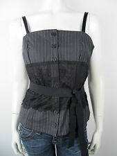 DEnny Rose Shirt Bluse Top Bustier 3715 Uni Neu M