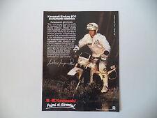 advertising Pubblicità 1986 MOTO KAWASAKI KLR 600