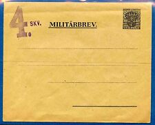 SWEDEN INTERESTING EARLY MILITARY POSTAL STATIONARY WITH 4th SQUADRON LOCAL OVPT