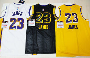 """Lakers """"GOAT"""" #23 Autographed Rare 3 Jerseys Collection COA, Certified Item"""