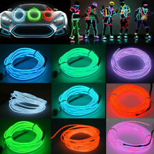Neon LED Light Glow EL Wire Strip  Lamp Rope Tube Decor Car Party USB Controller