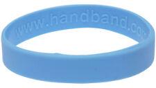 Light Blue Silicone Wristband Rubber Bracelet Elastic Blank Bangle by Handband