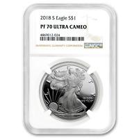 SKU#153441 2018 Silver American Eagle MS-69 NGC