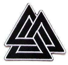 Valknut Symbol Iron On Patch- Embroidered Mythology Norse Badge Applique Sew
