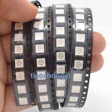 100pcs 5050 SMD UV/Purple PLCC-6 3-CHIPS Ultra Bright LED light-emitting diodes