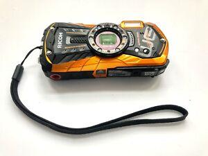 RICOH Waterproof Digital Camera RICOH WG-30 W Frame orange waterproof 12m
