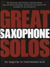 Great Saxophone Solos Beginner to Intermediate Alto Sax Sheet Music Book