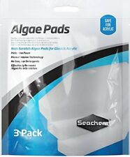 SEACHEM ALGAE PAD NON SCRATCH ACRYLIC OR GLASS 3 PACK. FREE SHIPPING TO THE USA