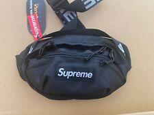 Authentic Black Supreme Waist Bag SS18
