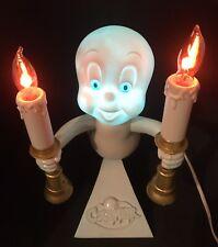 Vtg 1996 Casper the Friendly Ghost Candelabra Light Flickering Candles Blow Mold