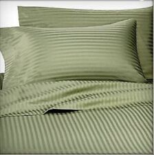 Full Bed Sheet Set Monterey Dobby Stripe Collection Microfiber Color Sage Green