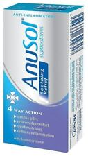 Anusol Suppositories Soothing Relief 4 Way Action with Hydrocortisone 12