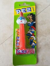 PEZ PAPA SMURF CANDY DISPENSER (New) plus 3 Smurfs opened