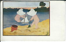 BA-459 In the Good Old Summertime, Two Children Playing, 1901-1907 Postcard