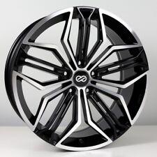 18x8 Enkei CUV 5x110 +30 Black Machined Rims Fits Chevrolet Pontiac Saturn