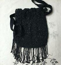 Sac à Main Aumônière Velours et Perle Brodée XIXè - Embroidery Bag Purse Pearl