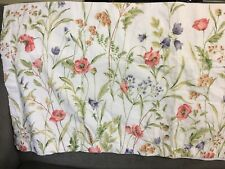 """Vintage LAURA ASHLEY Poppies And Tulips Valance 18""""x84"""" Excellent"""