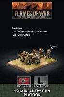 Flames of War BNIB 15cm Infantry Gun Platoon - Late War GE570