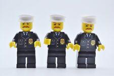 LEGO 3 x Figur Minifigur cty128 City Polizist Police aus Set 8401