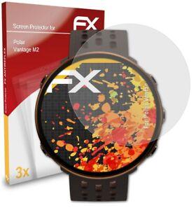 atFoliX 3x Film Protection d'écran pour Polar Vantage M2 mat&antichoc