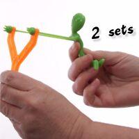 2 TOTAL  2pk's  ALIEN UFO SLINGSHOT - Novelty GaG Toy Party Favor Bag Filler Toy
