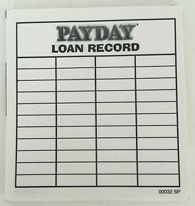 Payday 1994 Partial Loan Record Pad Replacement Game Part Piece Vtg Score Note