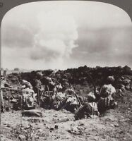 WW1 Stereoview. Indian Bombers Under Fire from Bosche Shells at Neuve-Chapelle