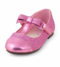 NEW! Girls Size Toddler 7 Ballet Dress Shoes Gift! Pink Bow T-Strap Church CUTE