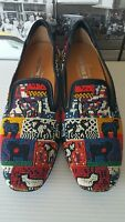 Right Bank Shoe Co. Peace Beaded Flats Loafers shoes US 6.5-7 M  Gorgeous
