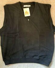 Ashworth Golf Vest Jumper Mens Womens 100% Cotton - Black - L