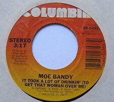 "MOE BANDY - It Took A Lot Of Drinkin' - Ex Con 7"" Single Columbia 38-04353"