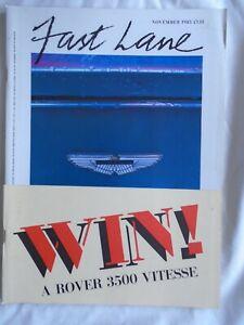 Fast Lane Nov 1985 Aston Martin Vantage, TVR 390, Renault 25 V6 Turbo