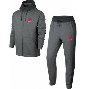 Men's Nike Air Fleece Tracksuit Hoodie Joggers Sweatpants Hoody Bottoms Black