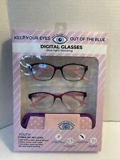 2 Digital Glasses, Children's Computer Blue Light Glasses Perfect for Homeschool