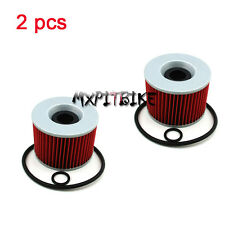2x Oil Filters For KAWASAKI ZZR250 GT550 GPX600R KZ1000P ZRX1100 ZZR1200 ZG1200