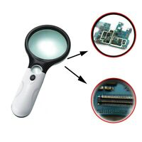45x 3 LED Light Magnifier Reading Magnifying Glass Lesehilfe Lupe NEU iGRYp