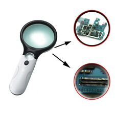 45x 3 LED Light Magnifier Reading Magnifying Glass Lesehilfe Lupe NEU Q~@ Neue