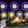 Hanging Firework LED Fairy String Light 8 Modes Remote Party Xmas Home Decor