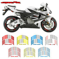 "12X 17"" Motorcycle wheel Stickers Decorated reflective Decals For Honda CBR RR#P"