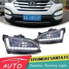 2Pcs DRL LED For Hyundai IX45 Santa Fe 2013 2014 Daytime Running Light Fog Lamp