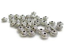 20 Metallperlen DISC 13mm antik silberfarbig Spacer Perlen nenad-design AN372