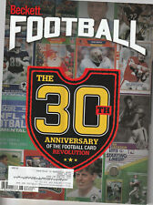 BECKETT FOOTBALL CARD MONTHLY PRICE GUIDE JUNE 2019 30TH ANNIV COVER