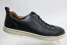 BORN Leather Black Sz 10.5M Men Cap-Toe Sneakers